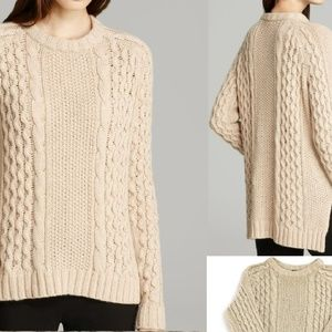 Theory alpaca Aria Innis blend cable sweater
